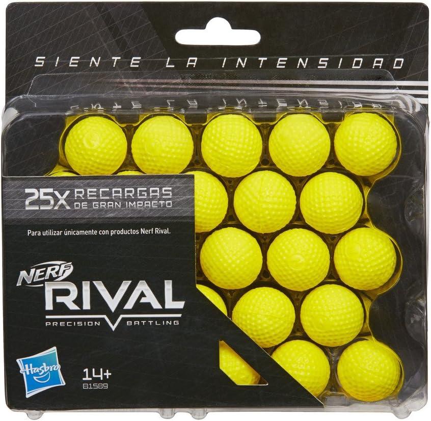 Nerf Rival Ner Rival Pack 25 Bolas recambios 16x15cm, Multicolor, Unidades (Hasbro B1589SO0): Amazon.es: Juguetes y juegos