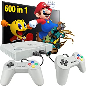 Fadist Retro Game Console,Built in 600 Games,Classic Video Game Console,with 2 Classic Controllers,AV Output Plug and Play Games Console ,Ideal Gift for Kids, Adult, Friend, Lover