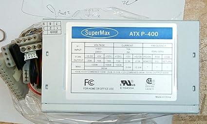 Supermax 400 Watt ATX PC Computer Desktop Power Supply SATA 20 24 NEW