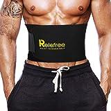 Waist Trimmer Sweat Belt for Weight Loss Relefree Adjustable Belly Fat Burner Waist Trainer Slimming Belt for Men & Women