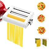 ANTREE 3 in 1 Roller & Cutters Attachment Set For KitchenAid Stand Mixers Included Pasta Sheet Roller, Spaghetti…