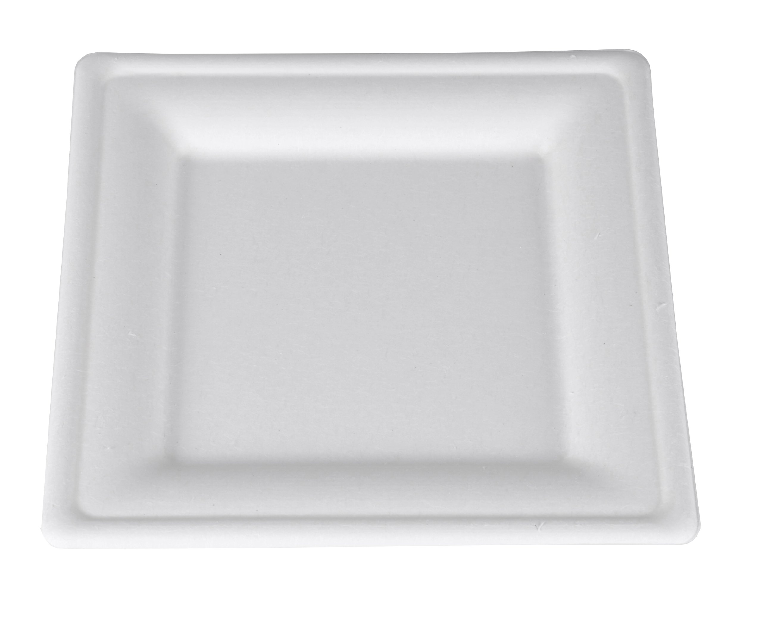 Southern Champion Tray 18630 ChampWare Square White Molded Fiber Heavy Weight Pulp Plate, 8'' L x 8'' W (Case of 500)