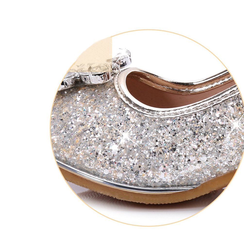 Kids Girls Party Dance Shoes Glitter Rhinestones Formal Dress Pumps:  Amazon.co.uk: Shoes & Bags