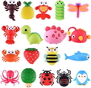 TUPARKA 18 Pcs Cable Protector for iPhone/ipad USB Cable, Plastic Cable Protectors Cute Fish Dinosaur Animals Charging Cable Saver, Phone Accessory Protect USB Charger