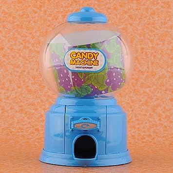 MAQUINA CARAMELOS Dispensador Golosinas y Frutos Secos Máquina de Chicles Caja de Ahorro moneda 4 colores (azul): Amazon.es: Juguetes y juegos