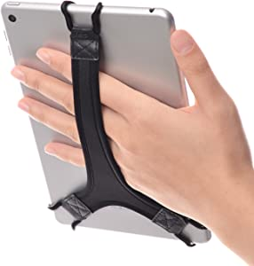 TFY Security Hand Strap Holder Finger Grip for Tablet - Compatible with Fire 7Inch / Fire HD 8 / iPad Mini/Galaxy Tab S 8.4 / Galaxy Tab 2/3 / 4 / Galaxy Tab 7.7 (Black)