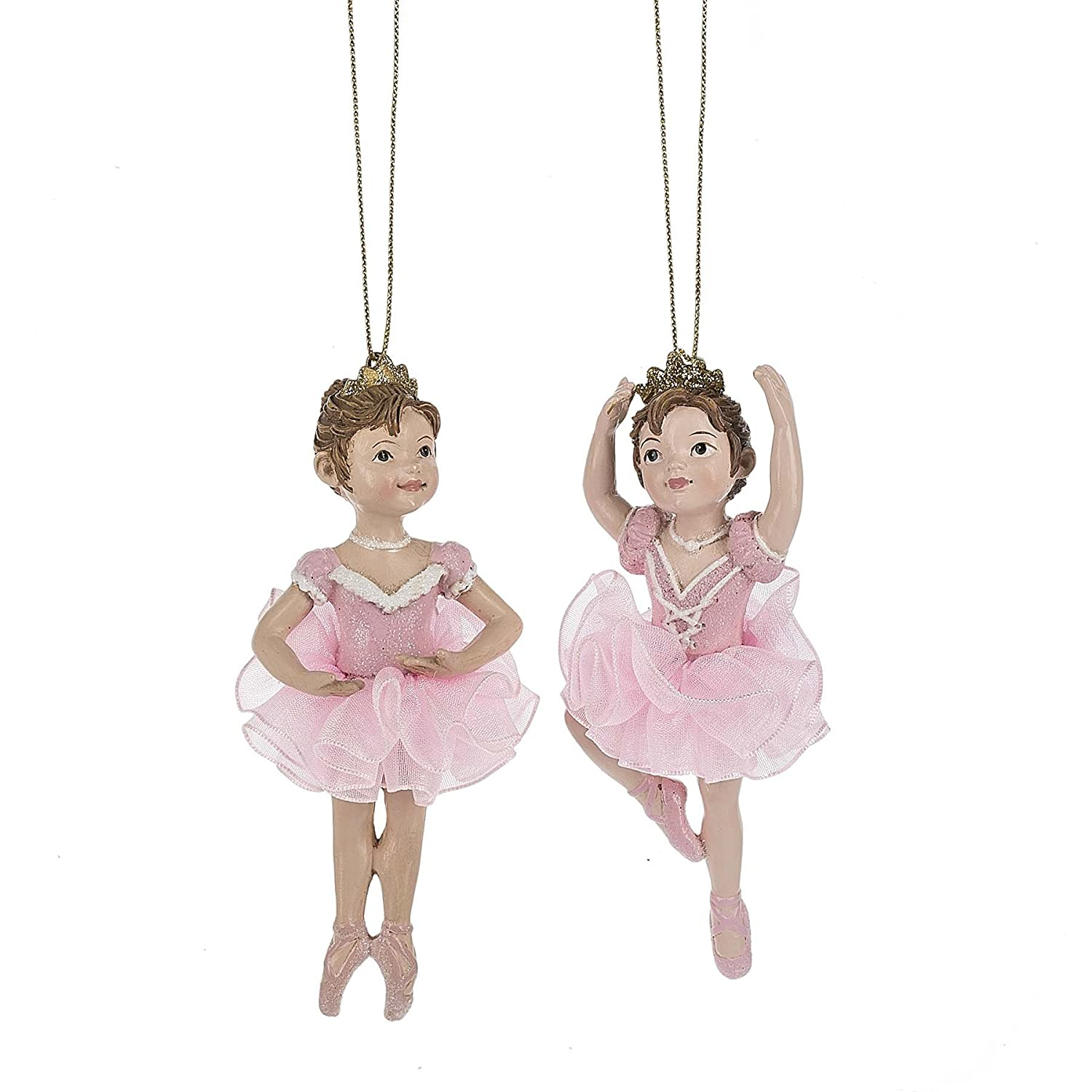 Sugarplum Fairy Ballet Princesses 4 Inch Resin Christmas Ornament Figurines Set of 2 Midwest CBK