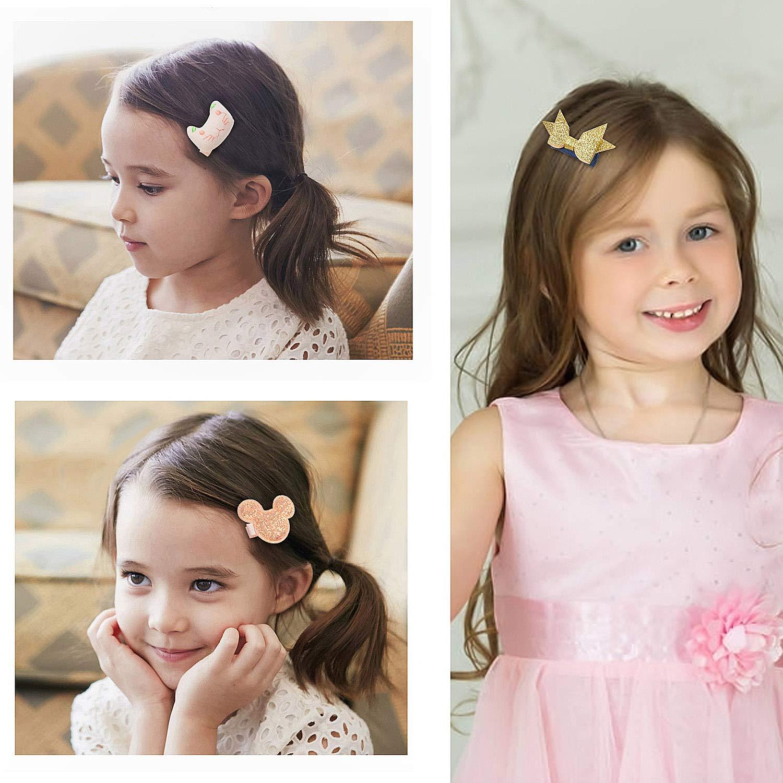 Ivory + Navy Comius 36 Pi/èces Fille B/éb/é Pinces /à Cheveux Set Bowknot Fleur Doux /Épingle /à Cheveux Accessoires pour Petites Filles B/éb/é Enfants