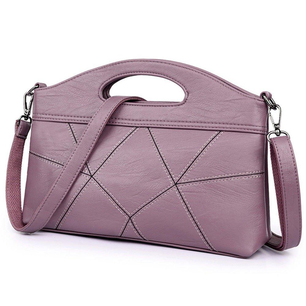 Single Shoulder Slanted Spanning Stitching Handbag,Pink,29X22X6Cm