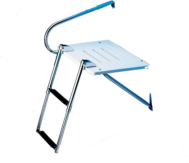 A.F.I. AFI 67904 Kit de Nadar Boarding Nadar Plataforma con Escalera telescópica de 2 Pasos (Barcos de Montaje Superior con los Motores fueraborda): Amazon.es: Deportes y aire libre