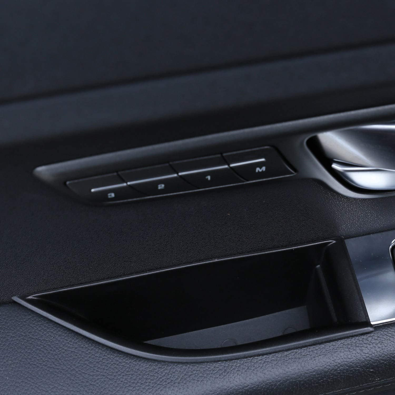 Nrpfell 2Pcs Car Armrest Door Storage Box Bracket Tray for Range Rover Evoque 16-18