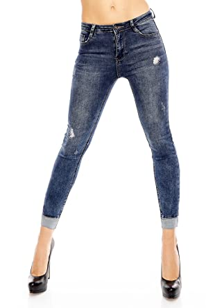 acef0caaf8d0 Laulia Skinny Stretch Jeans Push Up Röhrenjeans Slim Fit (S/36 ...