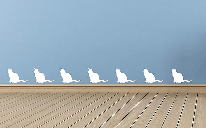 20 x vinilos en forma de gato. Dormitorio infantil, Cuarto de niños, Sala