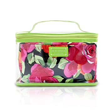 46d5a945535a Basico Women's Cosmetic Bag Set,tote Bag SetVary Size& Styles (2 PC  Cosmetic Bag Set-Green)