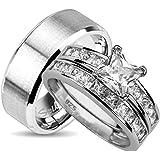 Juego de anillos de boda para él y ella (elegir tamaños)