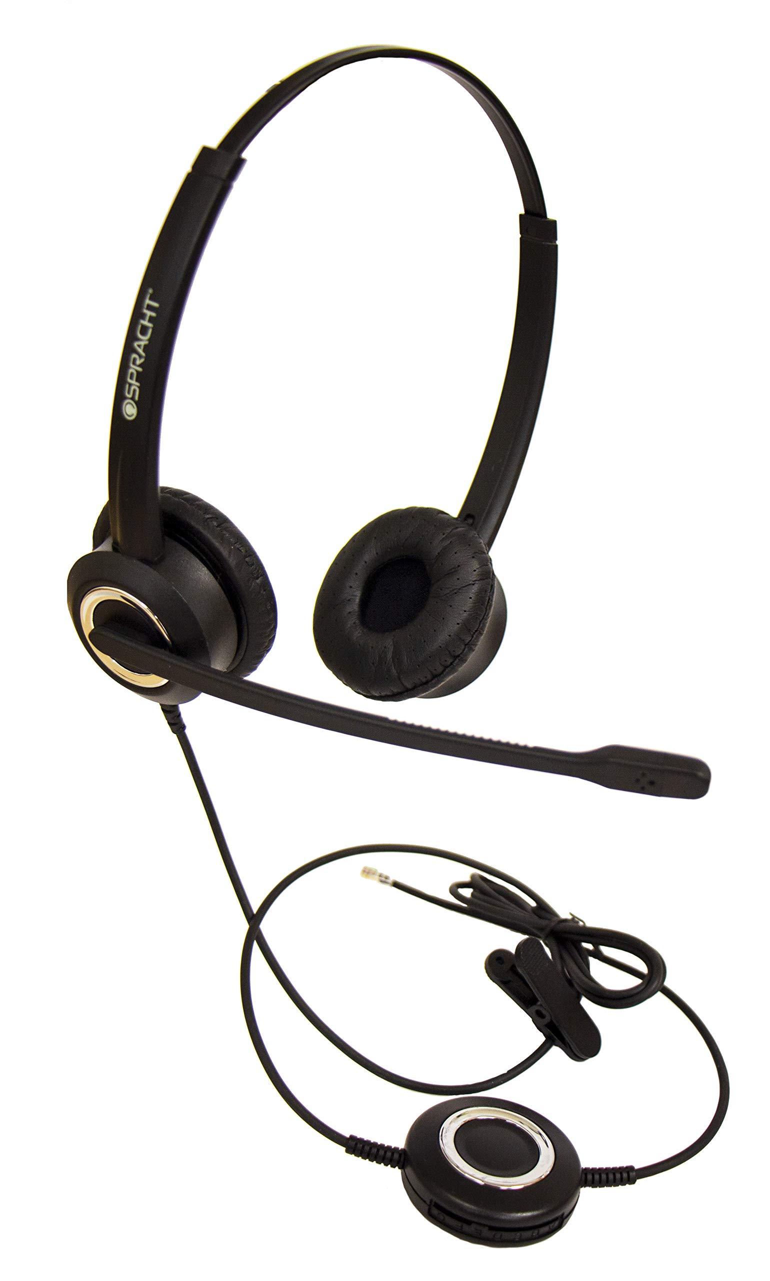 Zum RJ9B Universal Desktop Headset - Bi-naural by Spracht