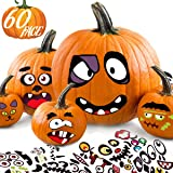 Halloween Stickers Pumpkin Decorating for Kids - Make 60 Funny Face and Classic Pumpkin Expressions Crafts, Holiday…