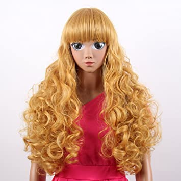 "Stfantasy American Girl Wigs Extra Long Wavy Heat Friendly Synthetic Hair 27"" 283g Lolita Wig"