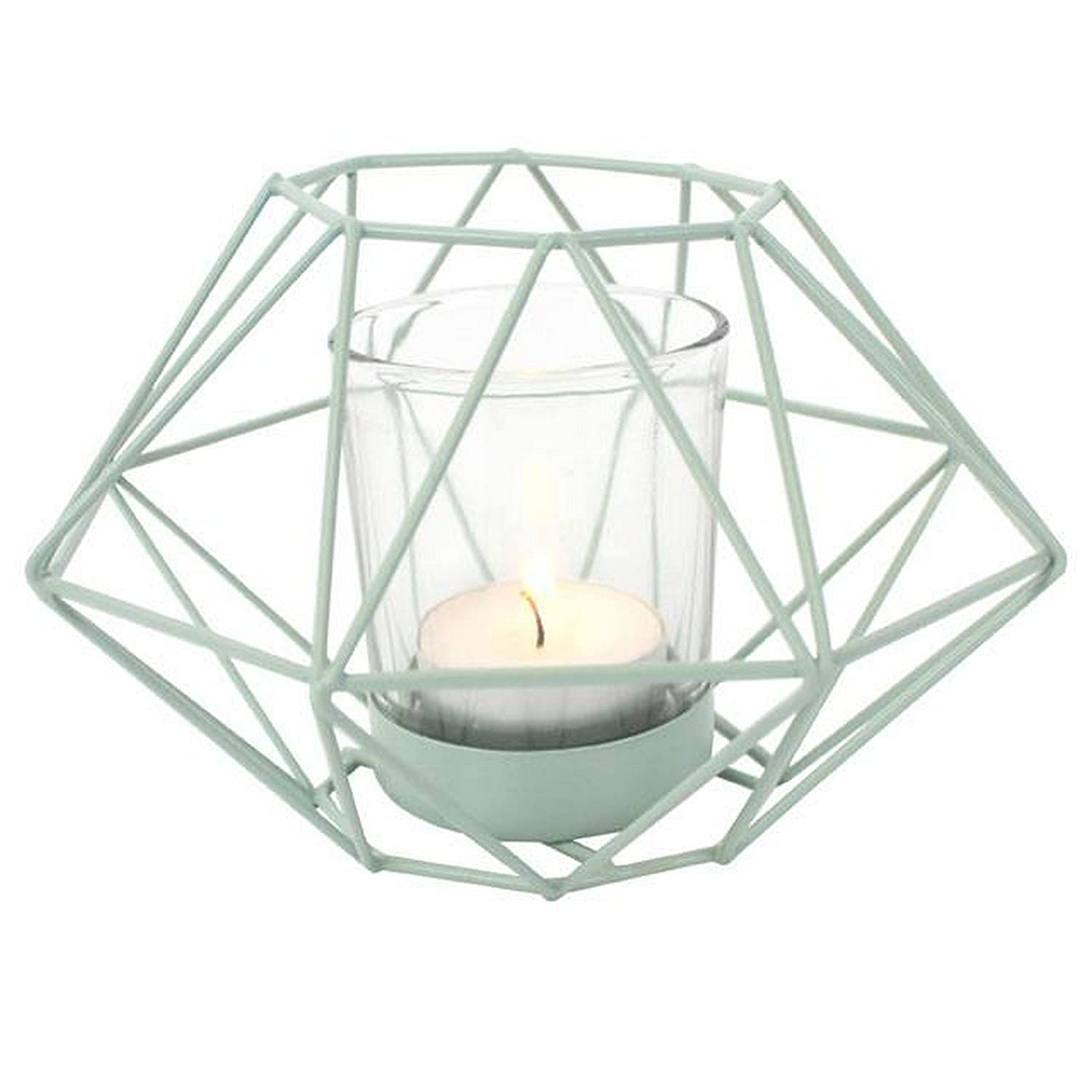 Something Different Geometric Wire Candle Holder (5.9 x 5.9 x 3.9 in) (Cream) UTSD1231_3