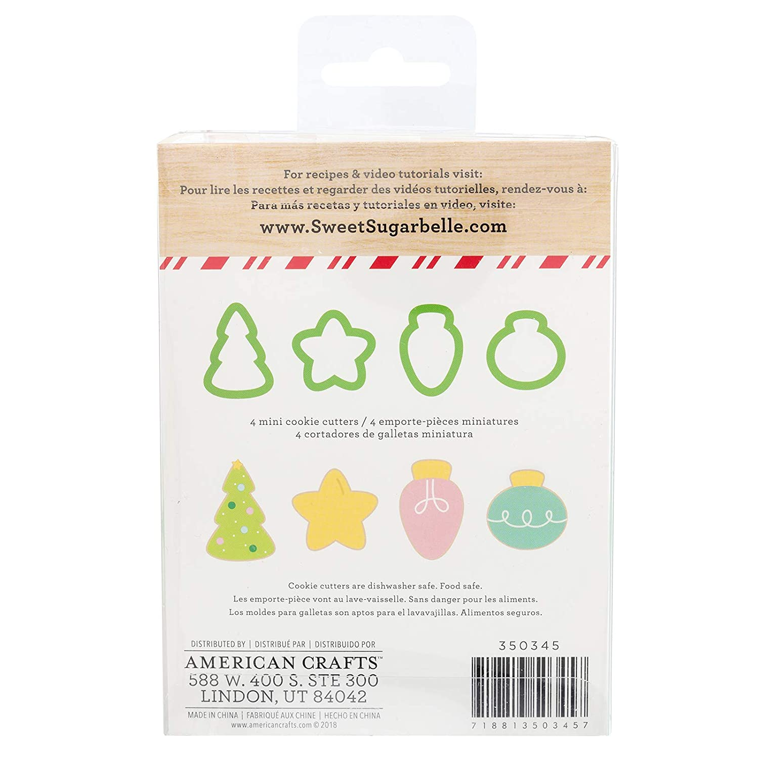 Amazon.com: Sweet Sugarbelle 350345 Oh Christmas Tree Mini Cookie Cutter Set, Mutli: Arts, Crafts & Sewing
