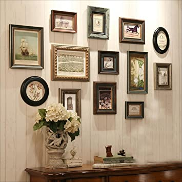 Bilderrahmen Massivholz Foto Wand Dekoration Einfache Moderne Bilderrahmen  Wand Wohnzimmer Fotowand Kreative Kombination Wandhalterung