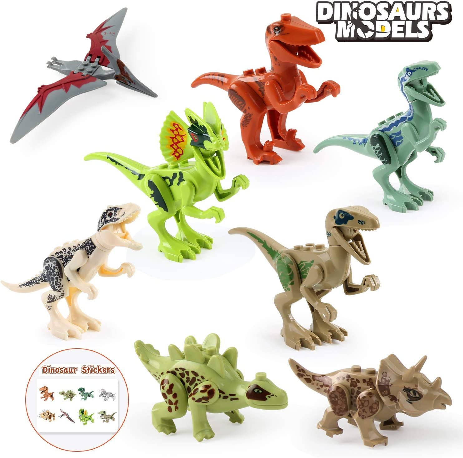 BeebeeRun Juego de Dinosaurios,Figura de Dinosaurio 15 PCS Dinosaurios de Juguete Set Dinosaurio Jur/ásico Mundo Regalo para Chicos Ni/ños