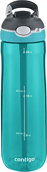 Contigo AUTOSPOUT Ashland Reusable Water Bottle, 24oz, Scuba