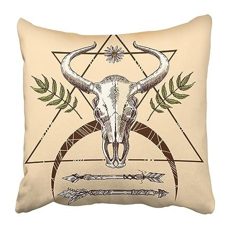 Funda de almohada con estampado de calavera de animales, diseño de ...