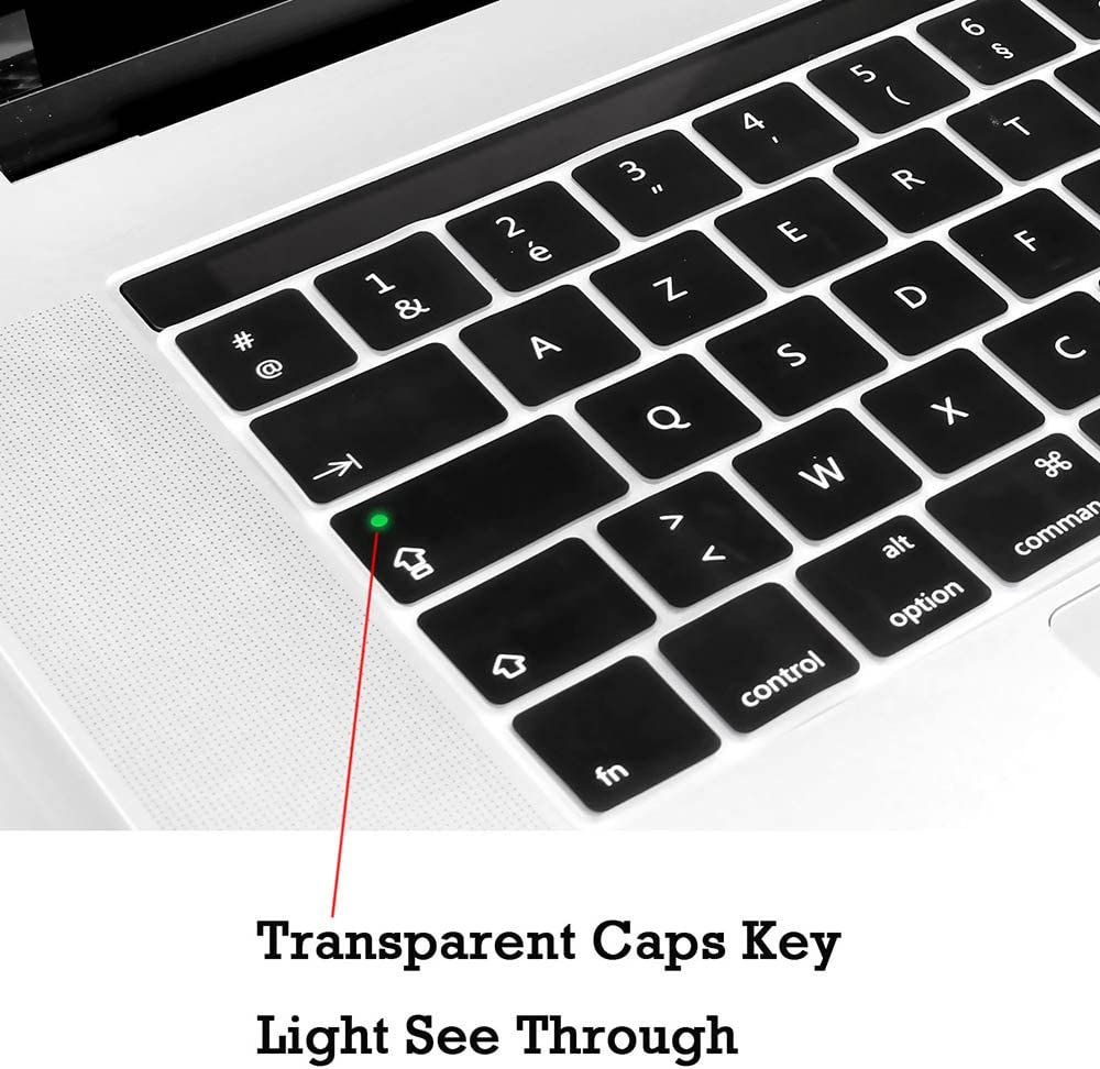 Europe Arabic Language 2016 /& 2017 Model Ultra Thin Silicone Keyboard Cover Skin Protector for New MacBook Pro Touch Bar 13 and 15 Inch A1706//A1707