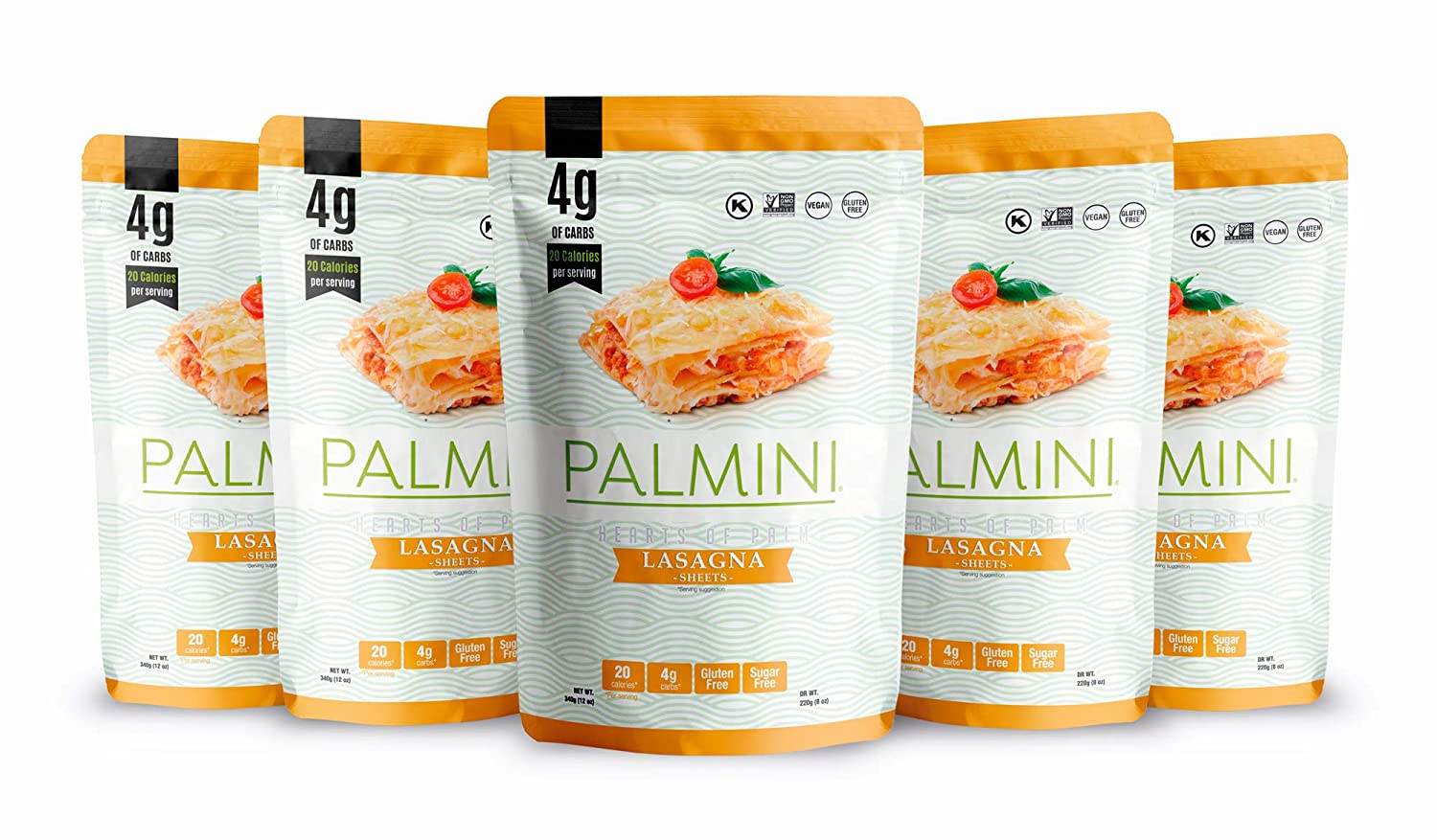 Palmini Low Carb Lasagna | 4g of Carbs | As Seen On Shark Tank | Hearts of Palm Pasta (12 Ounce - Pack of 6)