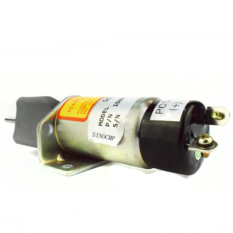 Amazon.com: 1504-24C2U1B1S1 24V Cut Off Solenoid - SINOCMP CP-U0387 Cutoff  Solenoid for Kubota DF-750 Engine Parts, 3 Month Warranty: Automotive