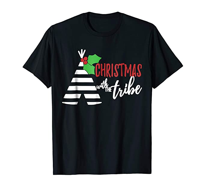 mens matching family christmas shirts christmas tribe t shirt 2xl black