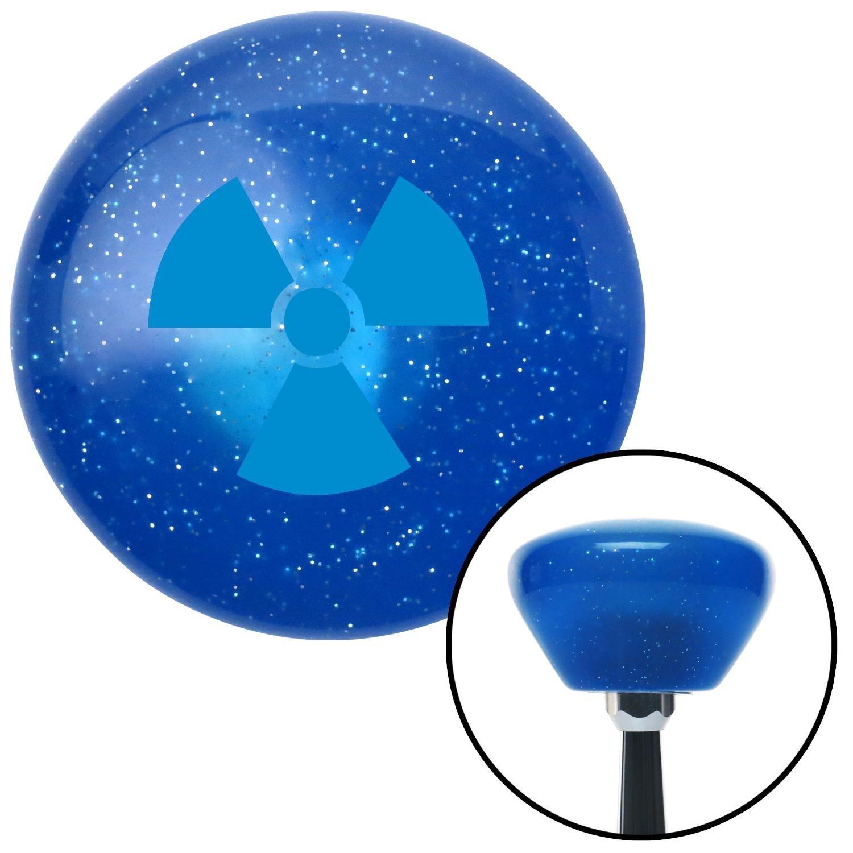Blue Nuclear Hazard Symbol American Shifter 187603 Blue Retro Metal Flake Shift Knob with M16 x 1.5 Insert