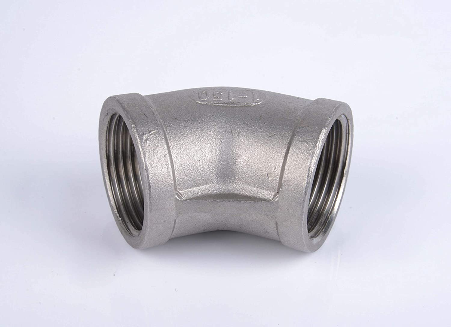 PELLER 316 Stainless Steel Elbow 45 Degree Female x Female NPT Threaded Pipe Fittings 2