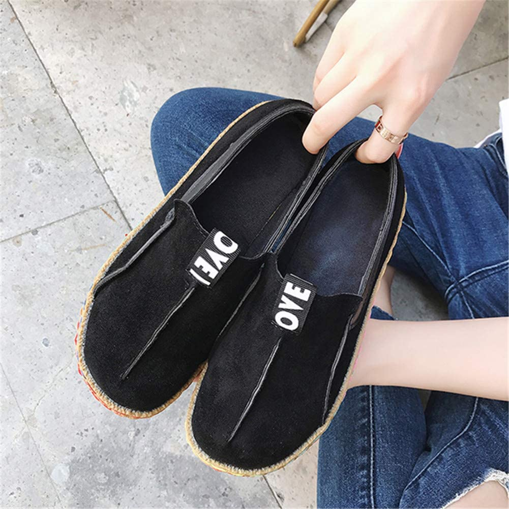 gracosy Womens Suede Leather Slip On Loafer Flat Shoes Driving Walking Shoes Moccasin Slipper Comfortable Casual Round Toe Summer Sandals Shoes for Vacation Holiday Pure Color Anti Slip Boat Shoes