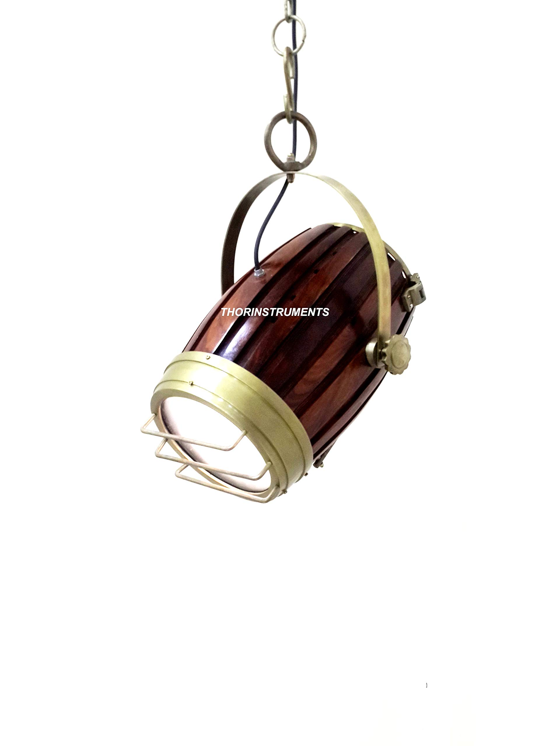 Antique Marine Hallway Nautical Brown Wooden Ceiling Hanging Light-Decorative lamp