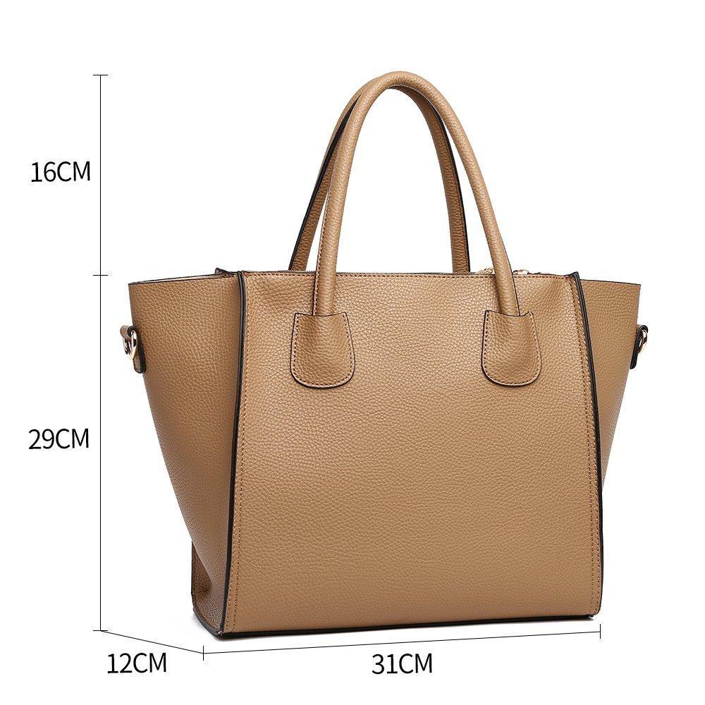 600f2d73f52a LeahWard Women s Handbags School College A4 Folder Ipad Bag Clearance Sale  Holiday Weekend 366 (115 Tan)  Amazon.co.uk  Shoes   Bags