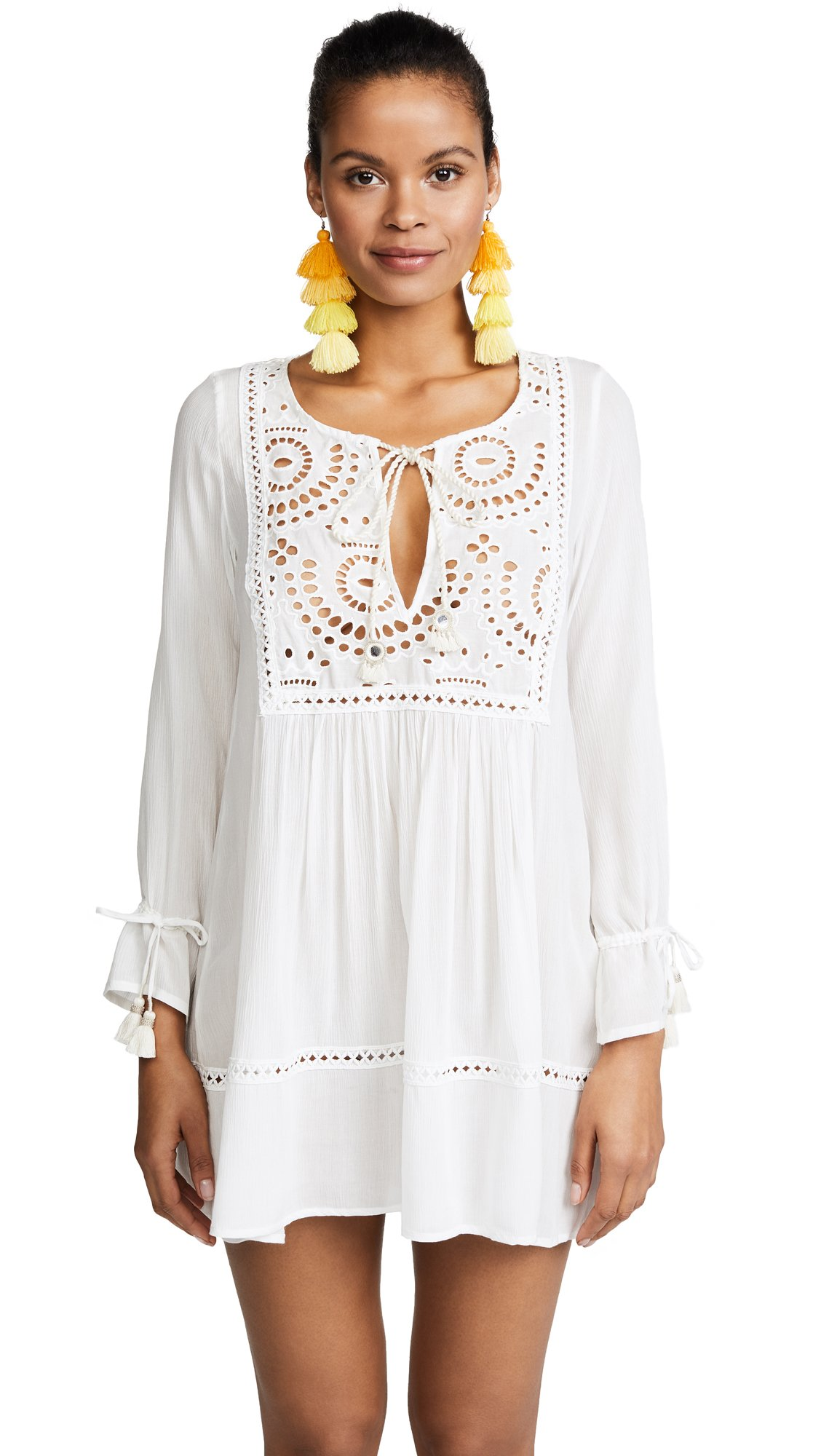 OndadeMar Women's Eyelet Tunic, White, Medium by OndadeMar