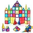 Children Hub 60pcs Magnetic Tiles Set - 3D Magnet Building Blocks - Premium Quality Educational Toys for Your Kids - Upgraded