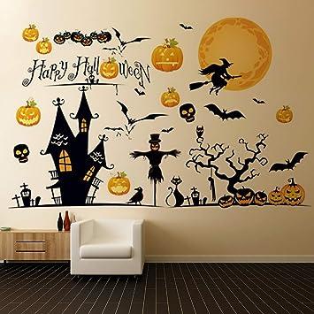 Amazon Com Halloween Wall Stickers Happy Halloween Decorations