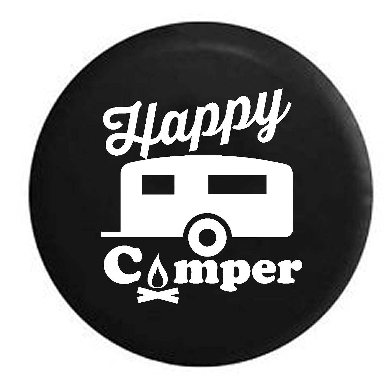 Pike Happy Camper Camp Fire RV トレーラー スペアタイヤカバー OEM ビニール 29