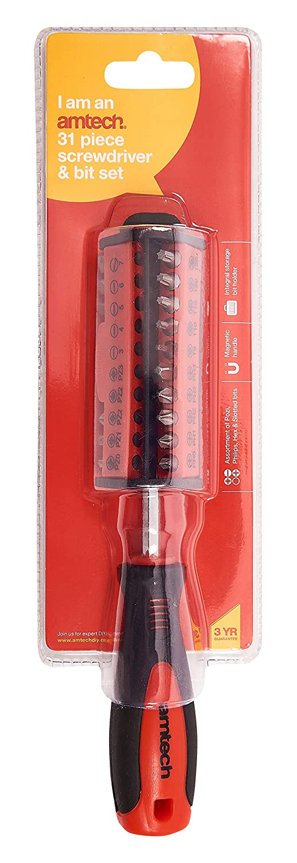 31 pi/èces L3275 Am-tech Kit tournevis et embouts