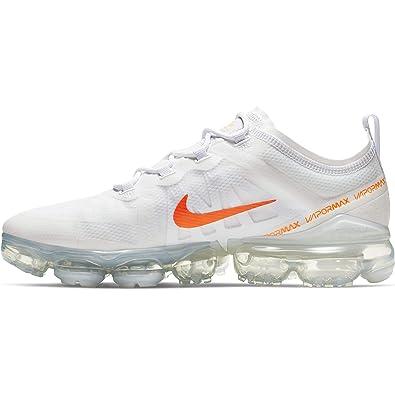 6c6a086d3 Nike Men's Air Vapormax 2019 Track & Field Shoes, Multicolour (White/Total  Orange