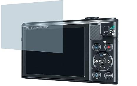 Canon PowerShot SX610 HS (2 Stück) PREMIUM Displayschutzfolie Bildschirmschutzfolie ANTIREFLEX - KRATZFEST UND PASSGENAU
