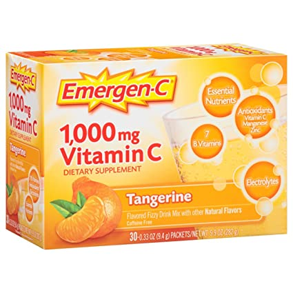 Amazon.com: Emergen-C Variety Pack Dietary Supplement Drink Mix with 1000mg Vitamin C, 3 Flavors 90 Count: Health & Personal Care