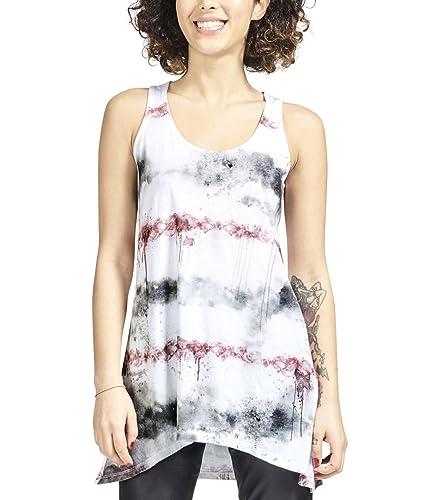 trueprodigy Casual Mujer Marca Camiseta De Tirantes Estampado Ropa Retro Vintage Rock Vestir Moda Cu...