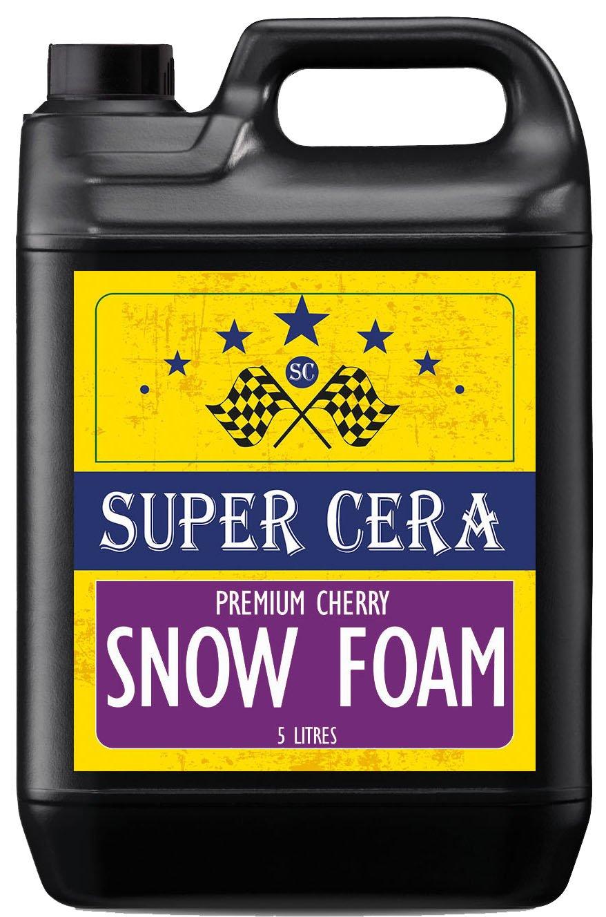 Super Cera mejores Snow Limpiador de champú de espuma con brillante de cera & aroma a cereza 5L para limpieza profesional & Valeting … Dirtbusters