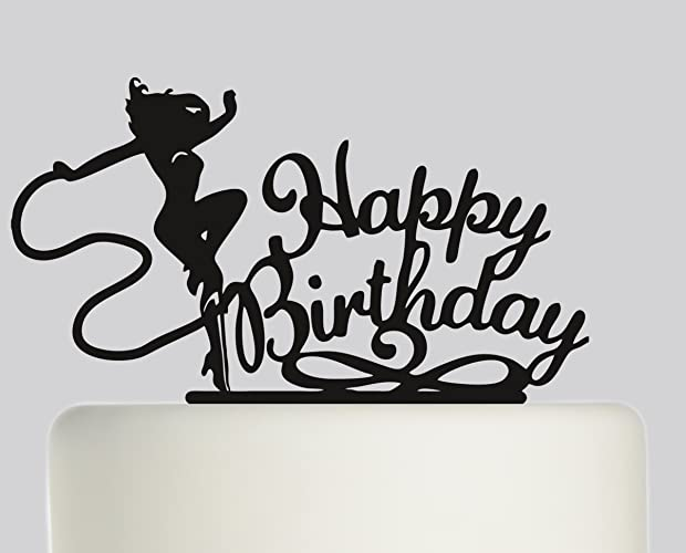 Birthday Cake Topper Wonder Woman Happy Ideal Decoration Party Acrylic Available In Gold Mirror Sparkle
