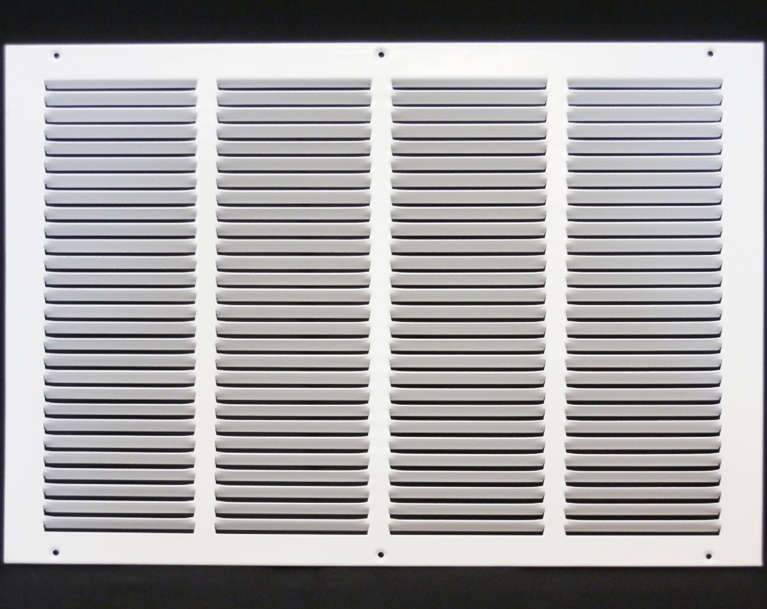 20''w X 12''h Steel Return Air Grilles - Sidewall and Cieling - HVAC DUCT COVER - White [Outer Dimensions: 21.75''w X 13.75''h]