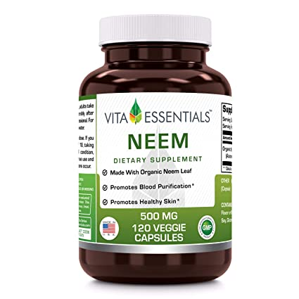 Amazon.com: Vita Essentials Neem 500 Mg Veggie Cápsulas, 120 ...